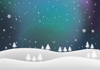 Abstract Colorful Winter Background