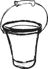 doodle metal bucket