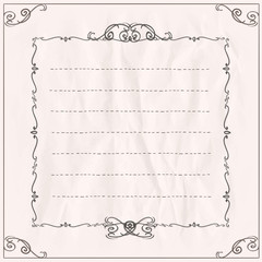 Frame on a paper with place for text.