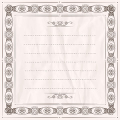 Ornamental frame with place for text.