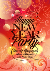 New Year Party vintage design.