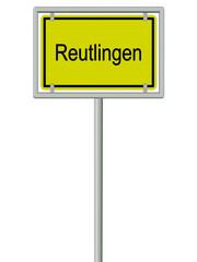 Reutlingen - Ortsschild
