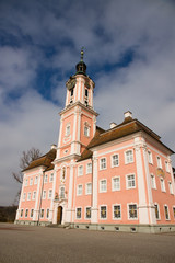 Famous Birnau pilgrimage church in Germany.