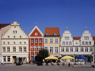 Bürgerhäuser am Marktplatz und Marienkirche, Greifswald
