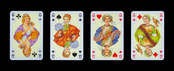 Spielkarten in Luxus und Nostalgie - DAMEN
