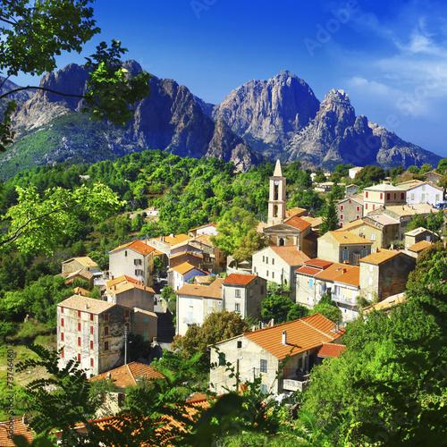 beautiful Evisa - mountain village in Corsica - 73746460