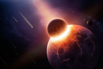 When planets collide