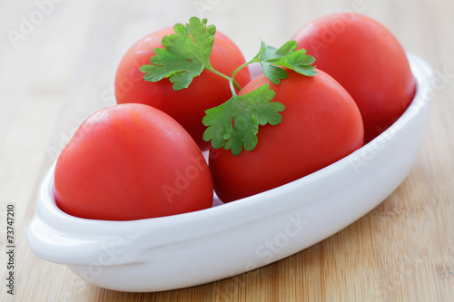 canvas print picture Tomaten in Schale