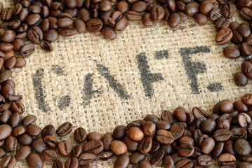 Cafe, Kaffeebohnen, Kaffeesack, Koffein, Arabica, Robusta