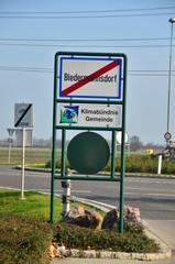 Ortsschild Biedermannsdorf Klimabündnis Gemeinde