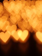 heart candle bokeh