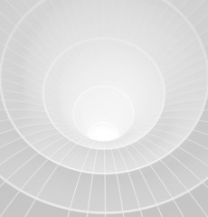 Abstract 3d white spiral tunnel