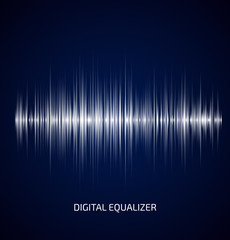 Abstract white music equalizer