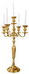 Old golden candlestick
