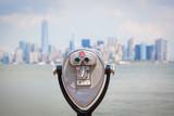Fototapety Cityscape of New York with Binocular