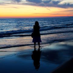 Persone, Spiaggia, Silhouette
