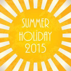 Summer background - 2015, vector illustration, EPS10