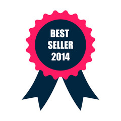 best seller 2014 badge with ribbon