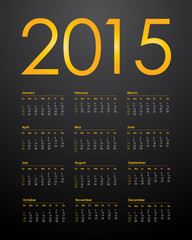 Calendar for 2015, vector illustration,eps10