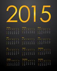 Calendar for 2015, vector illustration,eps10