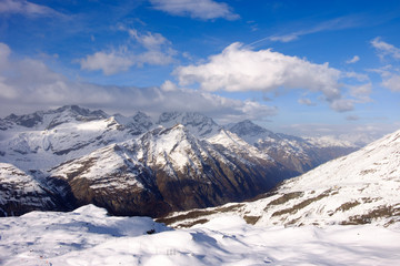 Beautiful snow mountain in Zermatt, Switzerland