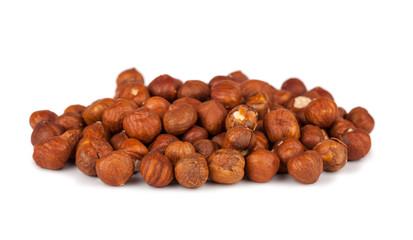 Heap of peeled filbert nuts