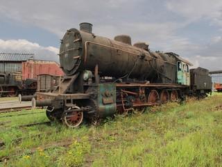 Stoi w skanenie lokomotywa 3.