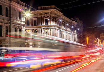 Night lights of the city