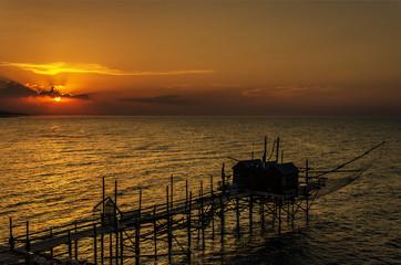 Trabucco al tramonto