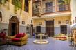 canvas print picture - Riad in Marrakesh, Morocco