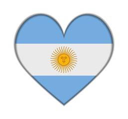 Argentina heart flag vector