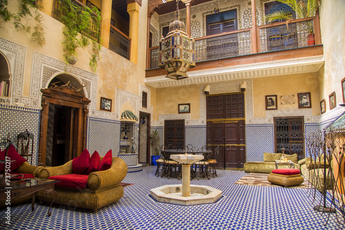 Foto op Canvas Marokko Riad in Marrakesh, Morocco
