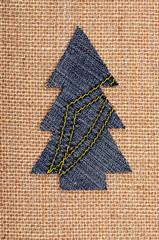 Christmas tree from denim