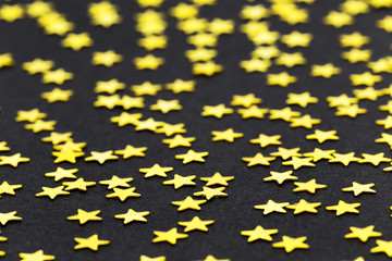 abstract gold stars