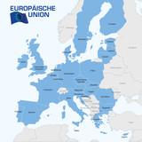 Europakarte - Europäische union