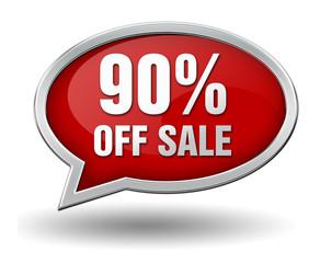 ninety percent off sale