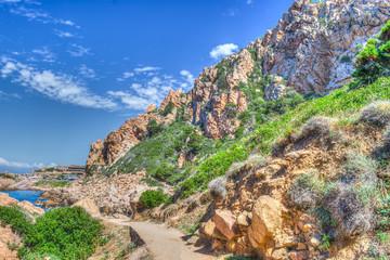 rocky coast in Costa Paradiso