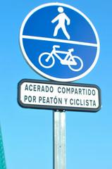 Peaton y ciclista
