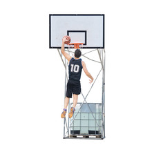 basketball player dunking in the hoop