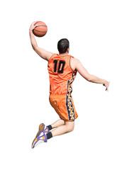 orange player on white
