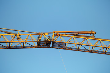Mounting works on connection of Hoisting Jib sections tower cran