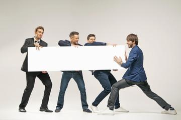 Group of handsome men