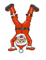 Santa_Claus_headstand