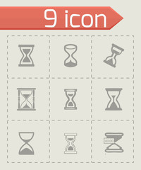 Vector hourglass icons set