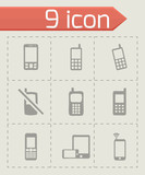 Vector mobile phone icons set