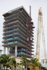 Construction and a crane