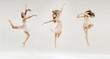 Leinwandbild Motiv Multiple picture of the ballet dancer