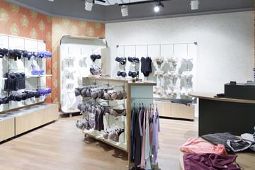 interior of bright underwear shop