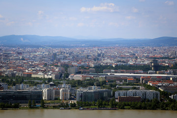 Panorama of Vienna City in Summer.