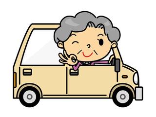 SDシニア女性 車